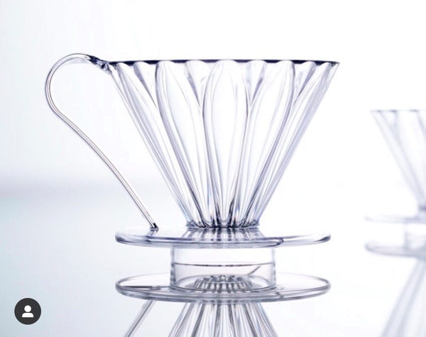 CAFEC Flower Dripper PFD-4 CLEAR Cup4 (for 2~4 cups)