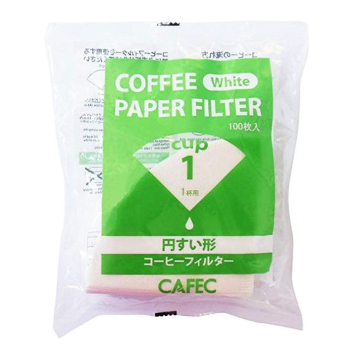 CAFEC Filter Paper Cup1 (for 1 cup) Traditional CC1-100W ក្រដាស់តម្រងកាហ្វេ