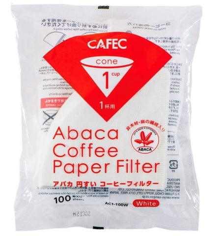 CAFEC Abaca filter paper (white) Cup1 (for 1 cup) AC1-100W ក្រដាស់តម្រងកាហ្វេ