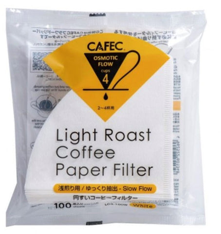 CAFEC - LIGHT Roast Filter Paper For Excellent Aroma & Clean Cup, Cup4 (for 2-4 cups) LC4-100W ក្រដាស់តម្រងកាហ្វេ (គ្រាប់កាហ្វេលីងខ្វី)