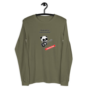 "XCROSS DASH 2020 GUITAR PANDA ver. ""Unisex Long Sleeve Tee"""