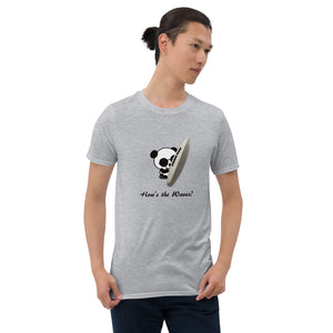 "XCROSS DASH 2020 SURFER PANDA ver. ""Short-Sleeve Unisex T-Shirt"" (Grey)"