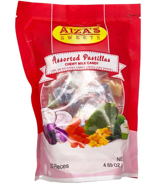 Aiza's Sweets Assorted Pastillas Milk Candy 20 Piece 133g