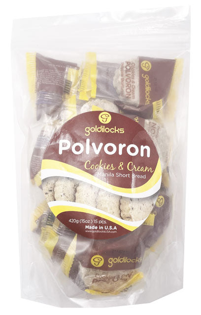 Goldilocks Polvoron Cookies and Cream 15 Piece 15oz
