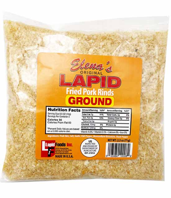 Lapid Chicharon Ground Fried Pork Rinds 2.5oz