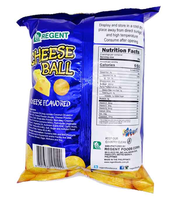 Regent Cheese Ball Cheese Flavored Snack 60g