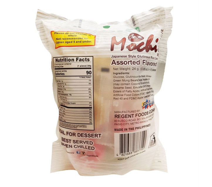 Regent Mochi Assorted Flavor 10 Piece 8.5oz