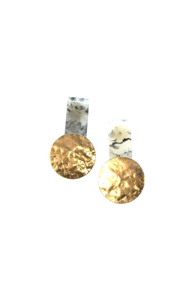 Dangle Earrings with Brass