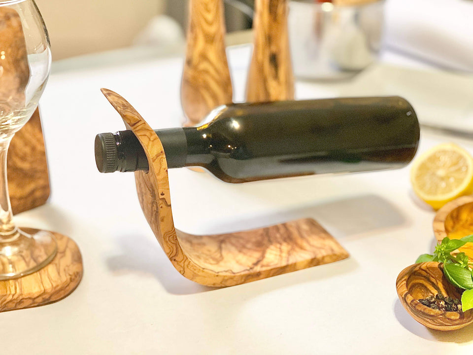 Natural OliveWood - Bottle Holder
