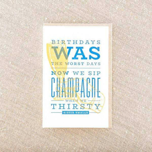 Sip Champagne On Birthday Greeting Card