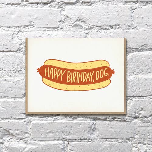 Hot Dog Birthday Card