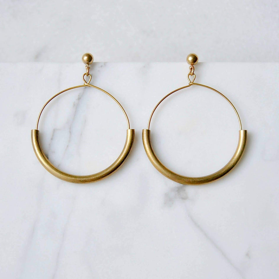 Large Arc Earrings