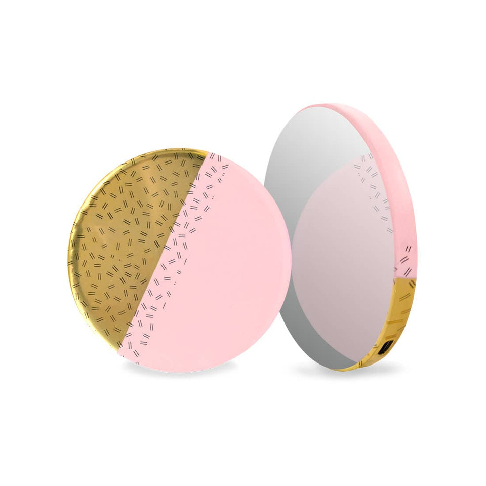 Pink Gold Mirror Powerbank