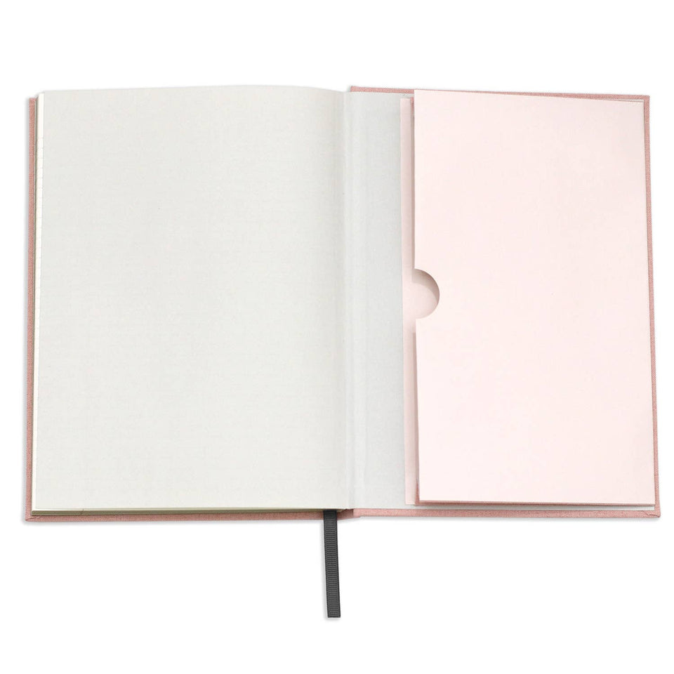 Pink Linen Note to Self Journal