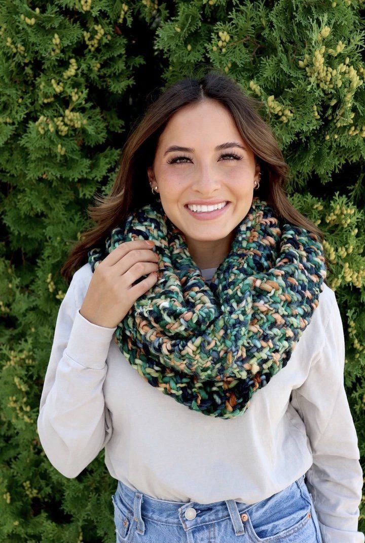 Colorful Woven Infinity Scarf
