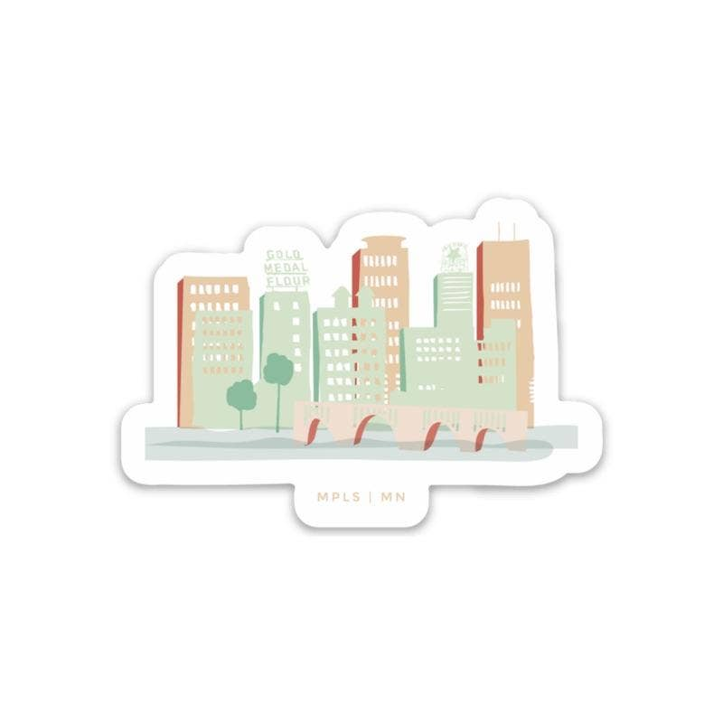 Minneapolis Skyline Sticker - Color