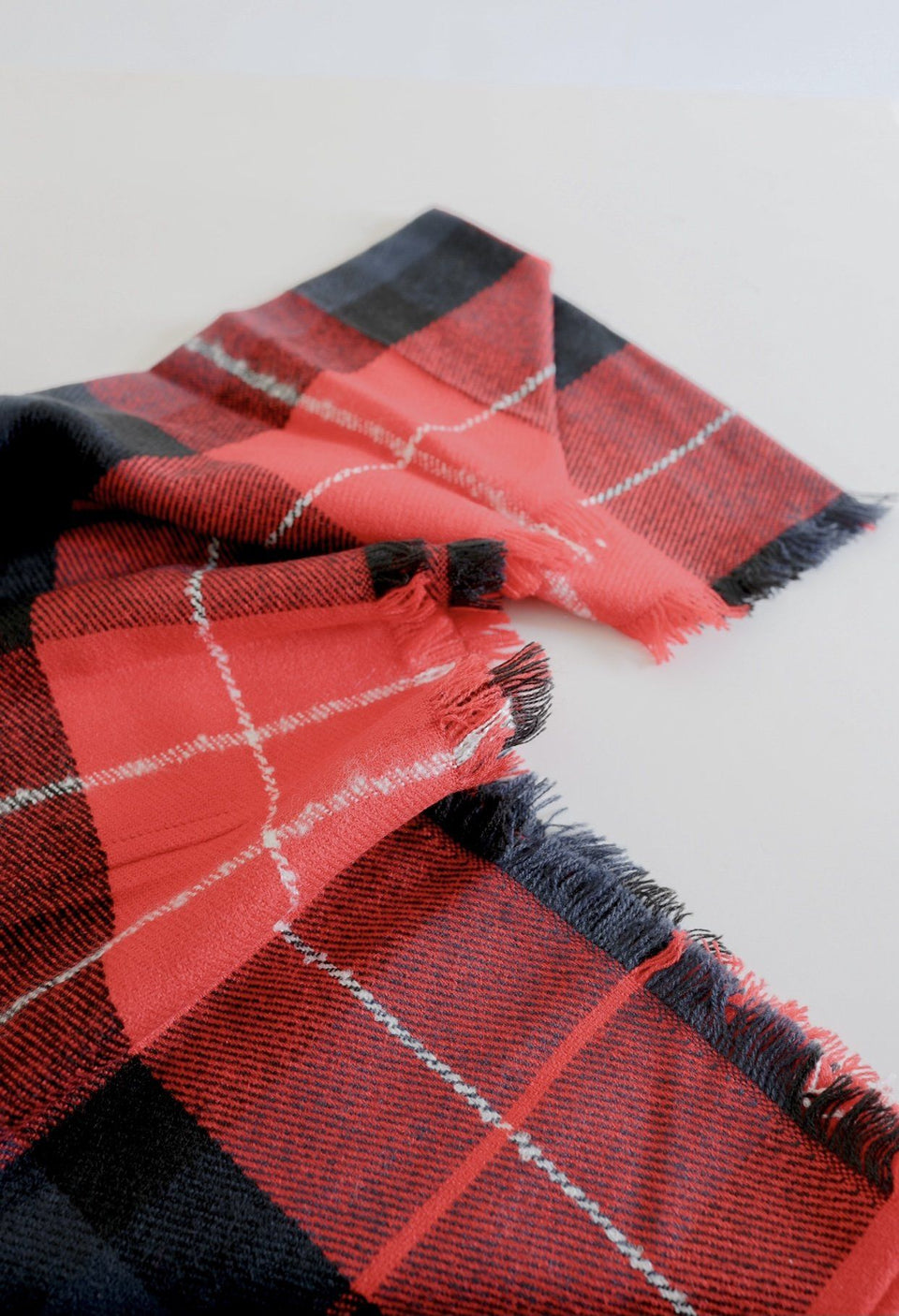 Red & Navy Plaid Infinity Scarf