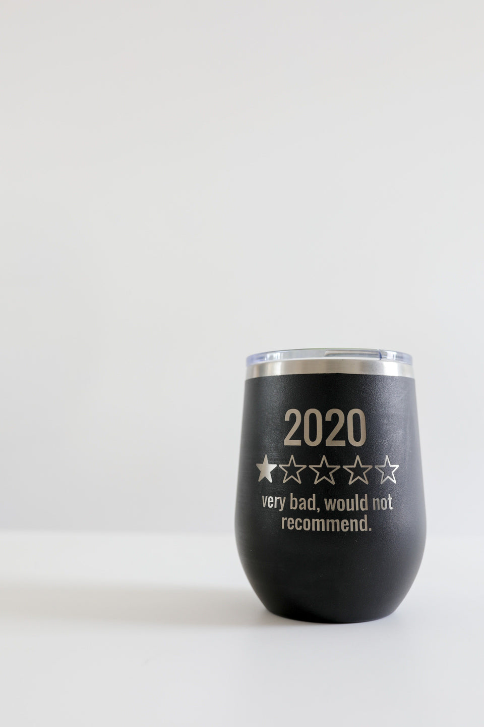 12 Ounce 2020 Rating Tumbler - Black