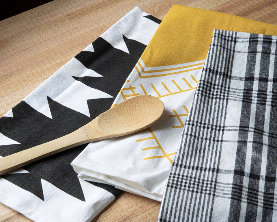Set of 3 Plaid Nellie Tea Towels