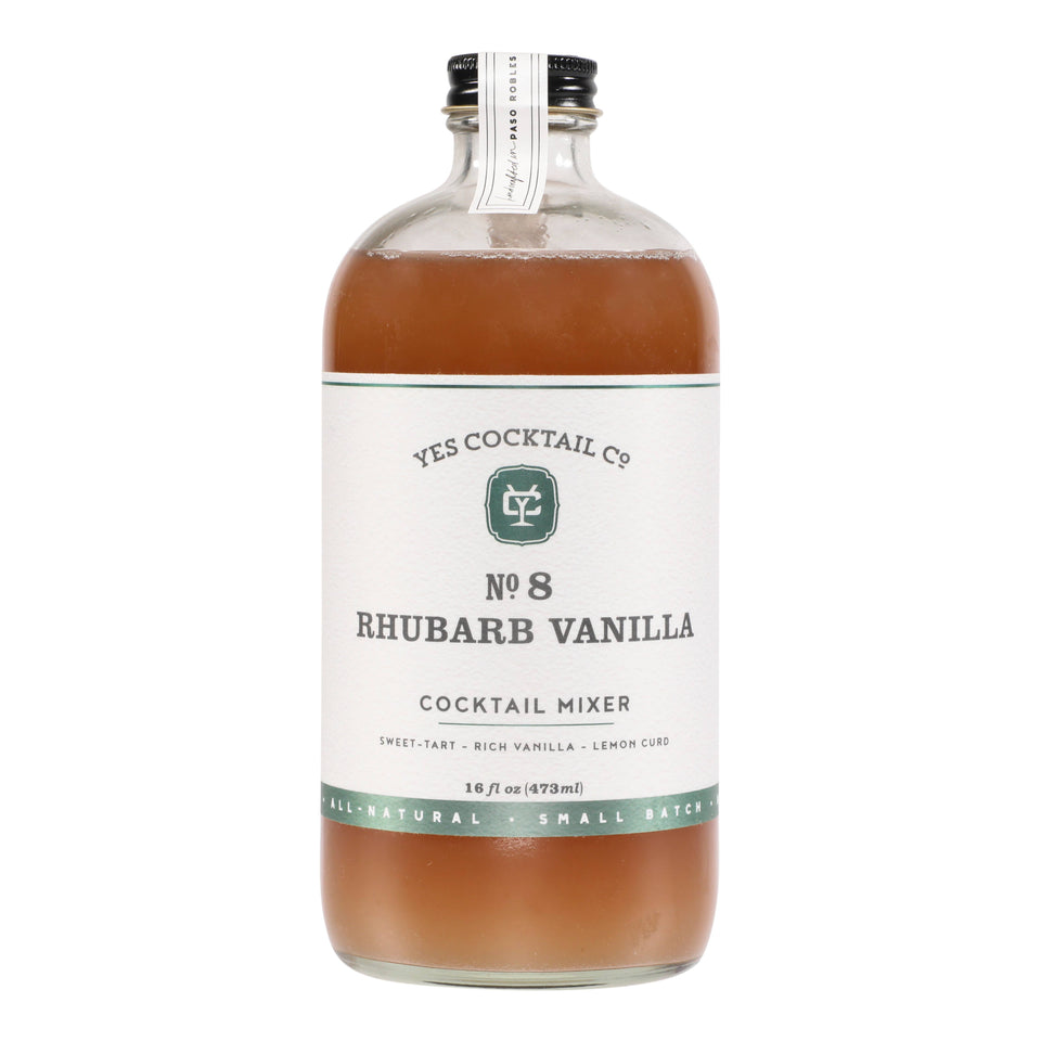 Preorder Rhubarb Vanilla Cocktail Mixer SPRING SEASONAL
