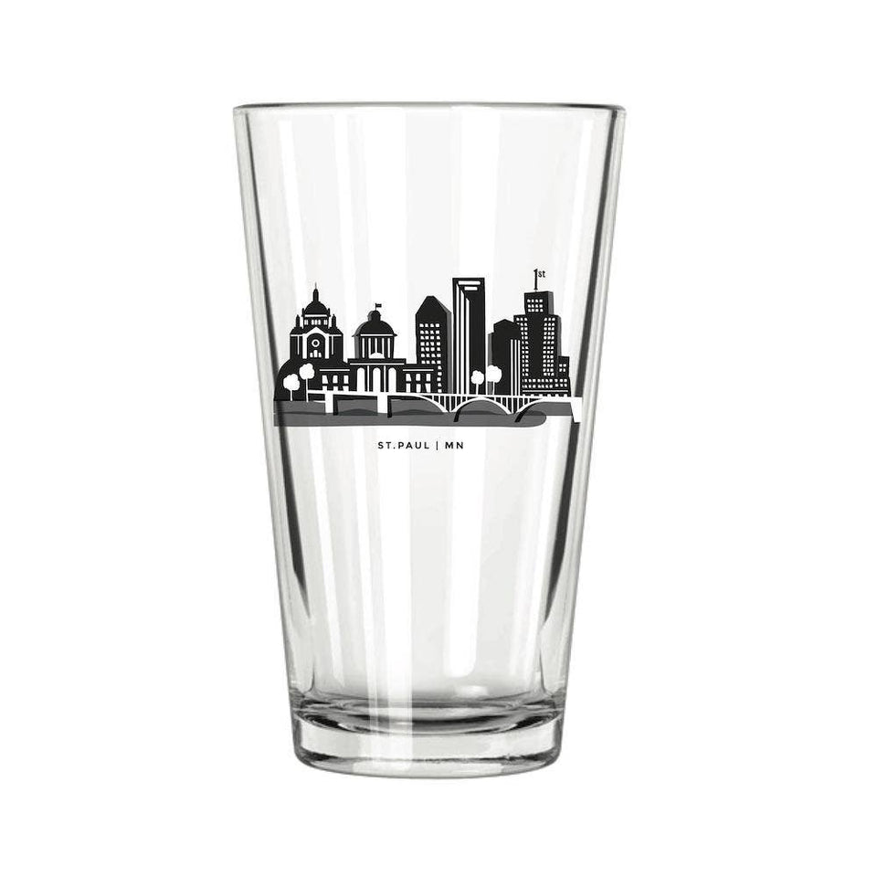St Paul Skyline Pint Glass