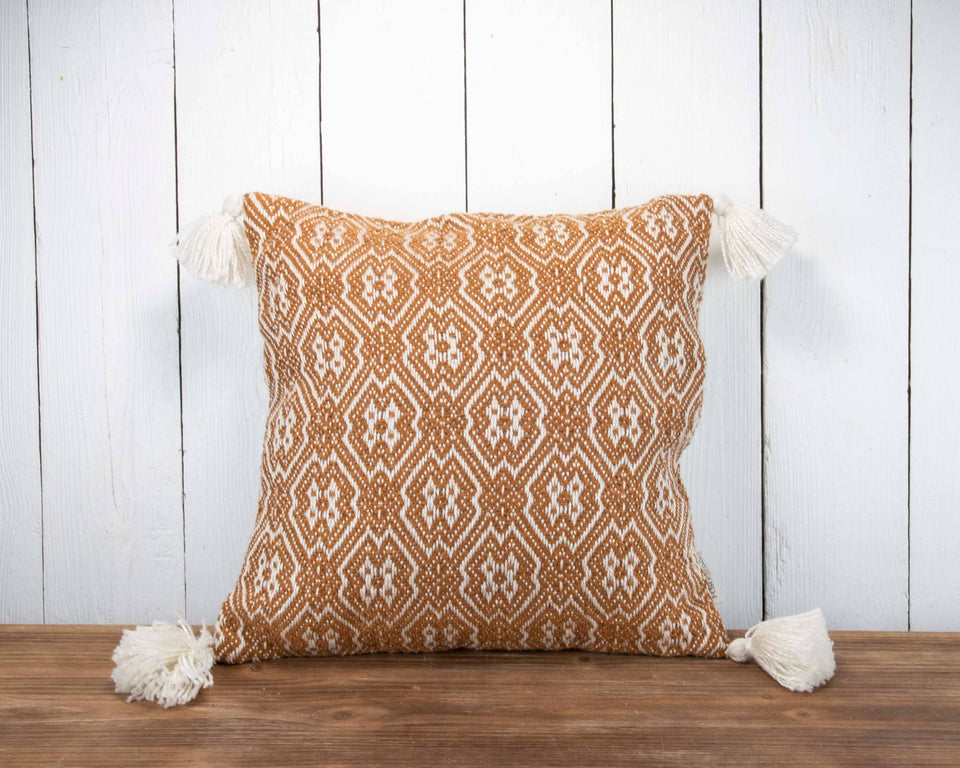 18X18 Hand Woven Outdoor Bobbi Pillow