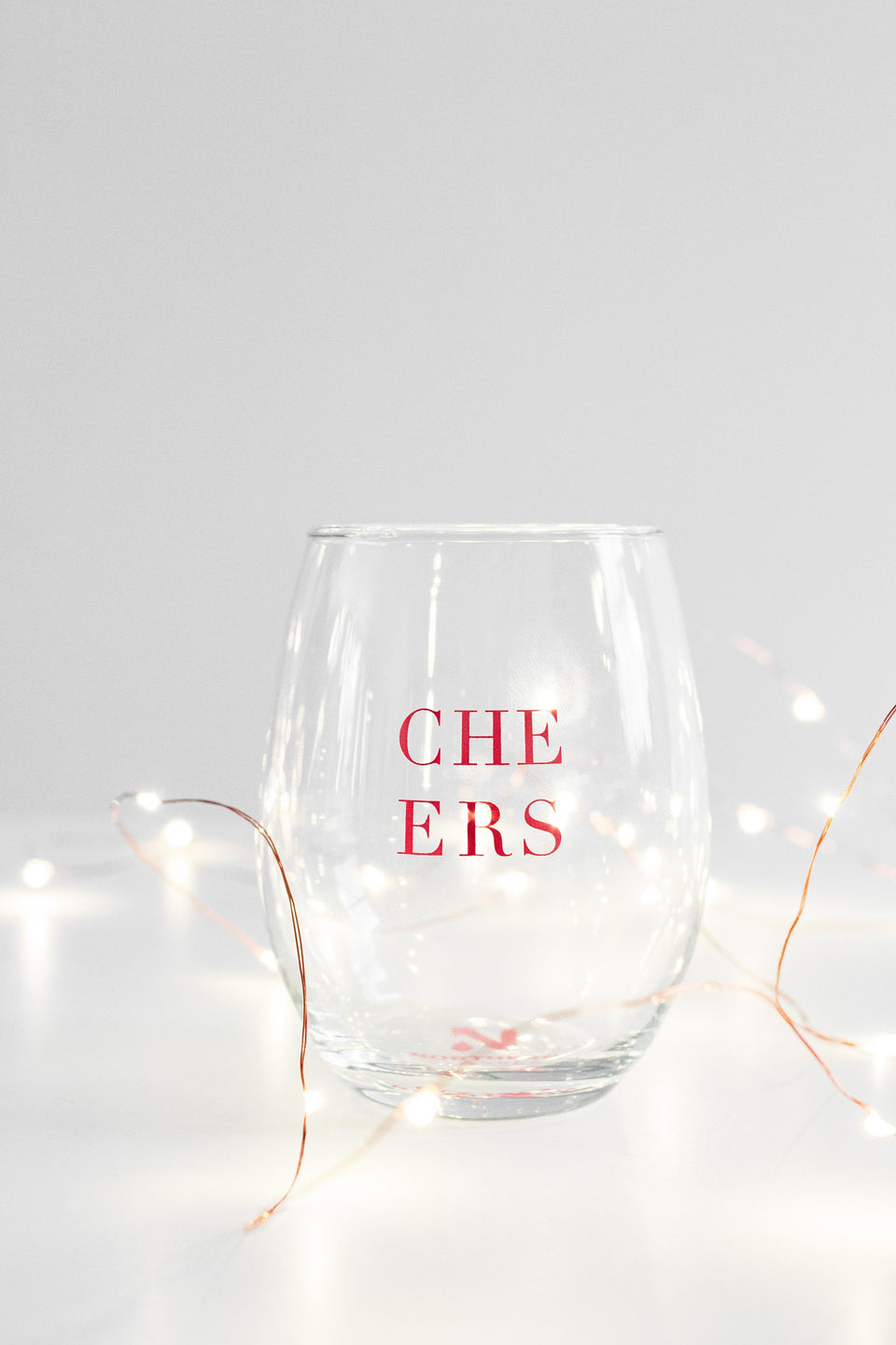 Stemless Wine Glass- Cheers