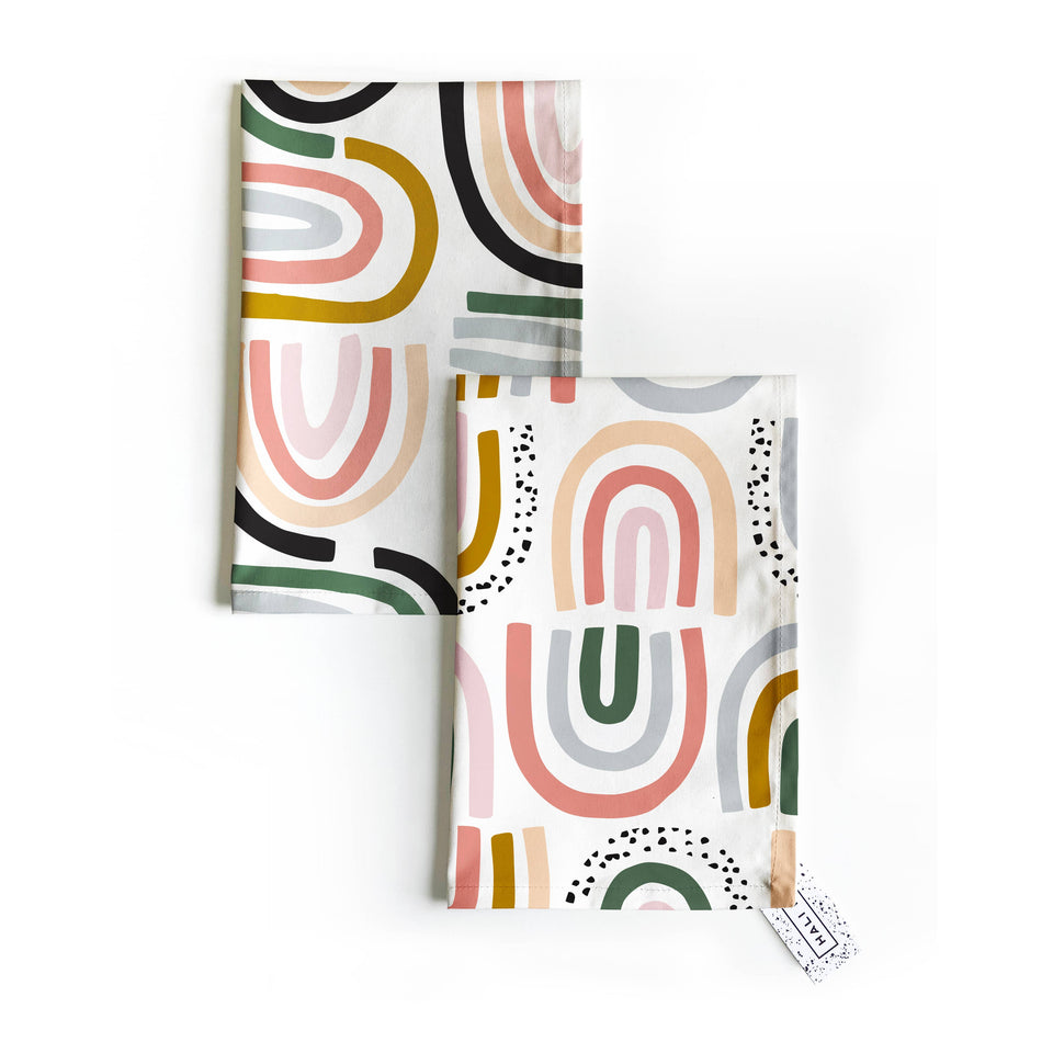 Hali Hali LLC - Rainbows & Sprinkles Tea Towel