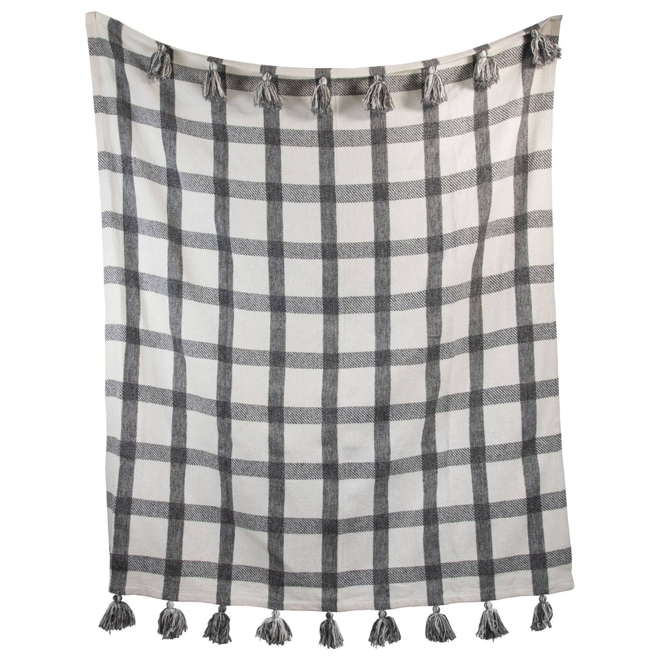 Hand Woven Jackie Throw - Black