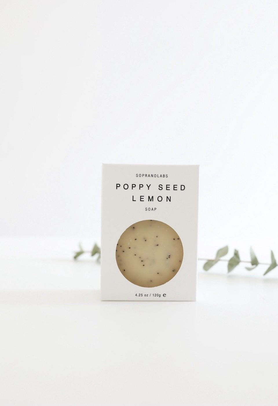 POPPY SEED LEMON Vegan Soap. Gift for her/him