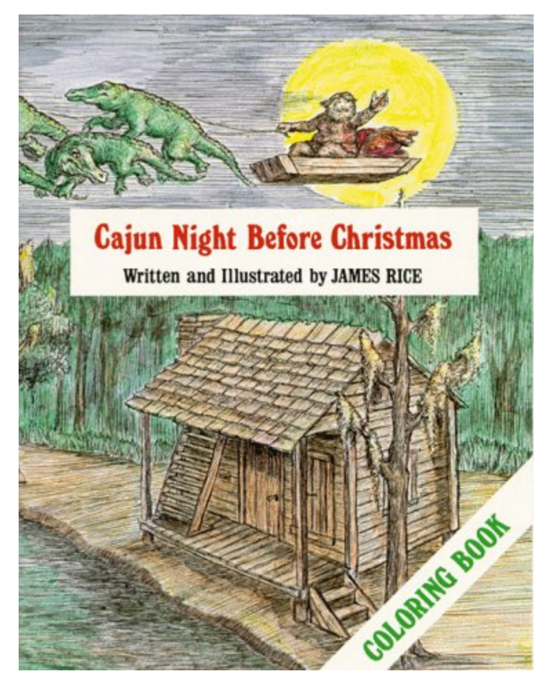 Cajun Night Before Christmas Coloring Book