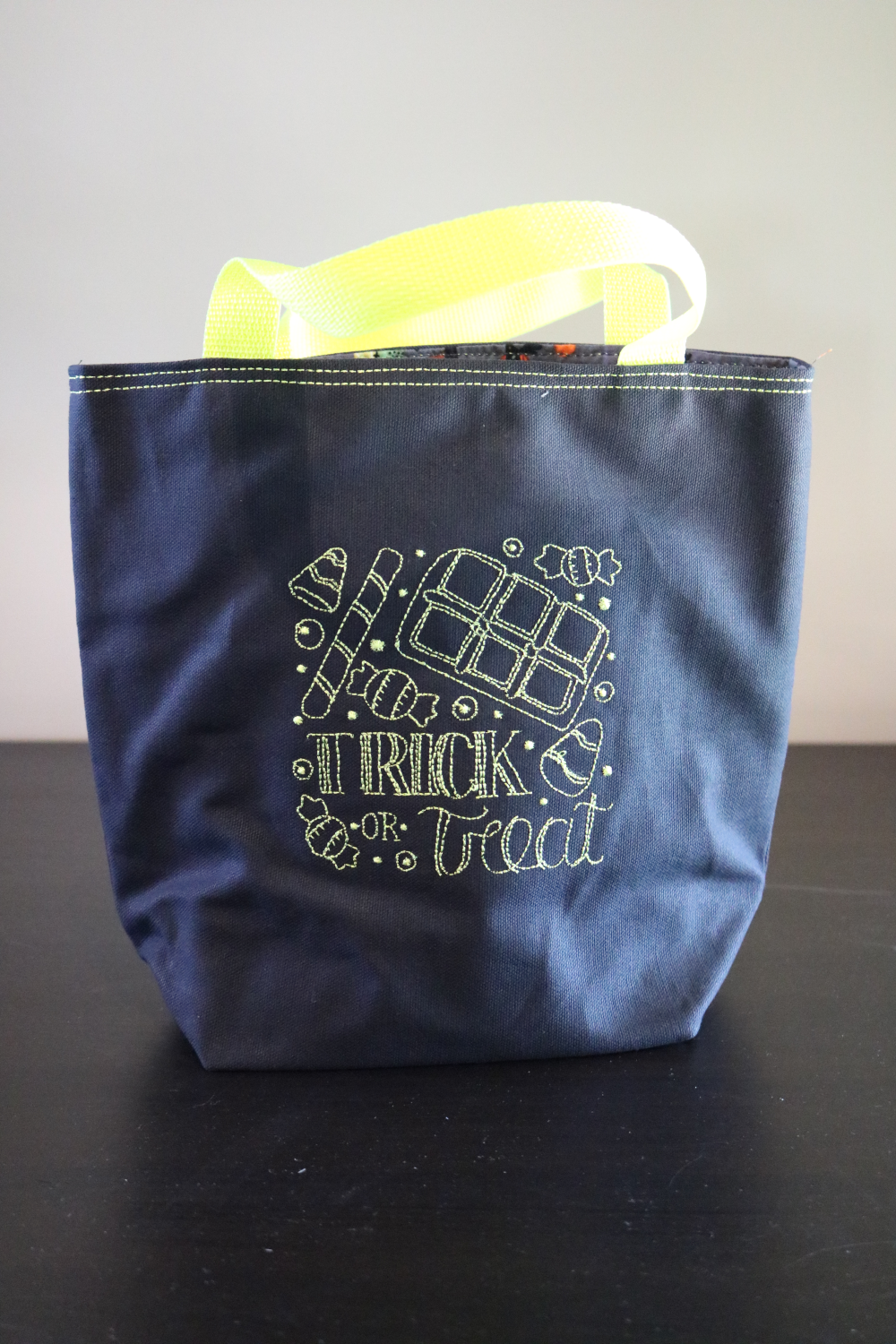 Neon Trick-or-Treat Bags