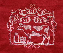 Load image into Gallery viewer, Red & White On The Farm Embroidered 100% Cotton Kitchen Towels