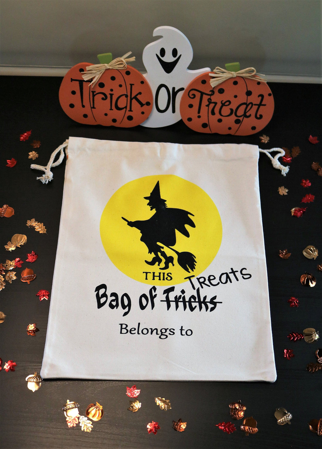 Personalized Halloween Trick-or-Treat Bags