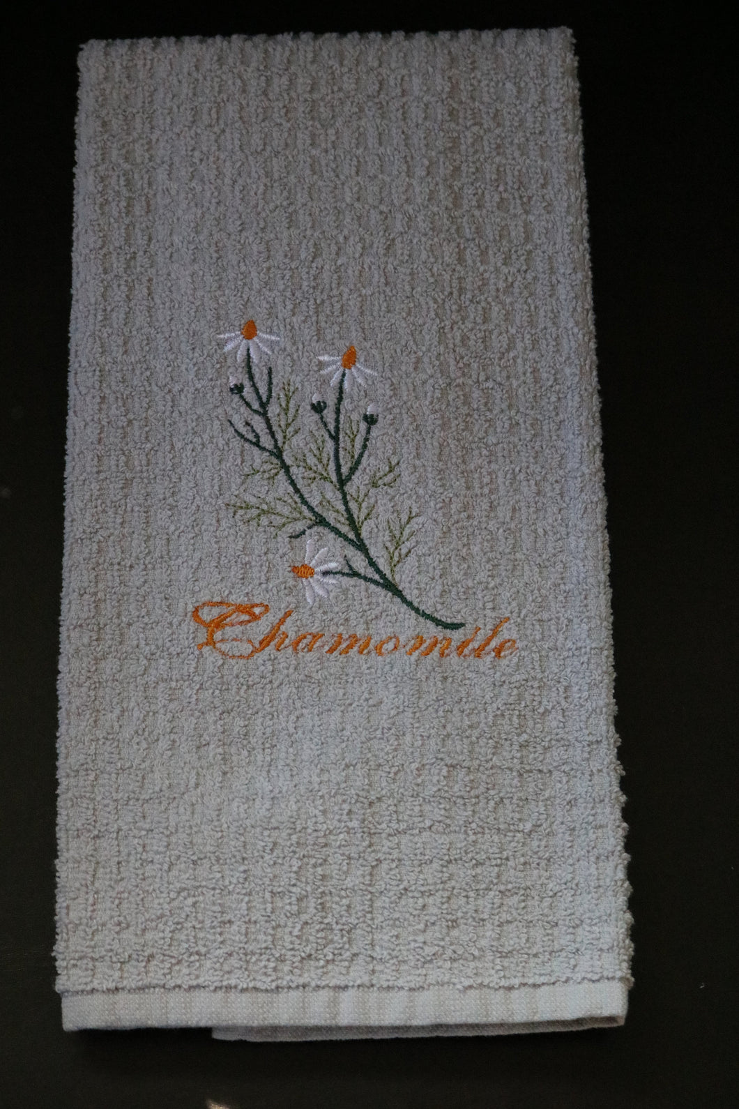 Herb Kitchen Towels - Machine Embroidered