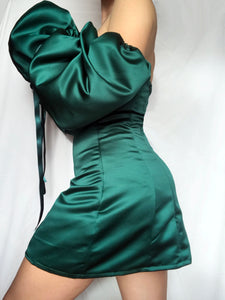 THE DAPHNE DRESS IN EMERALD GREEN