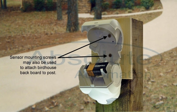 Imitation Birdhouse for Driveway Alarms
