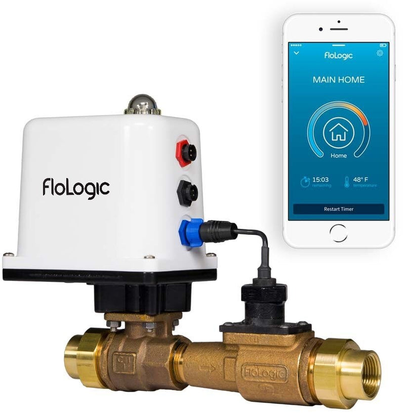 FLoLogic FLS0035-1-PLUS Water Shut Off System with 1 Inch Valve and Connect WiFi