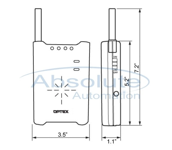 Optex RCTC10U Wireless Door Chime