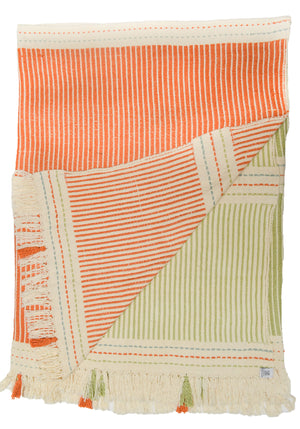 Large Lulo Orange and Green Throw