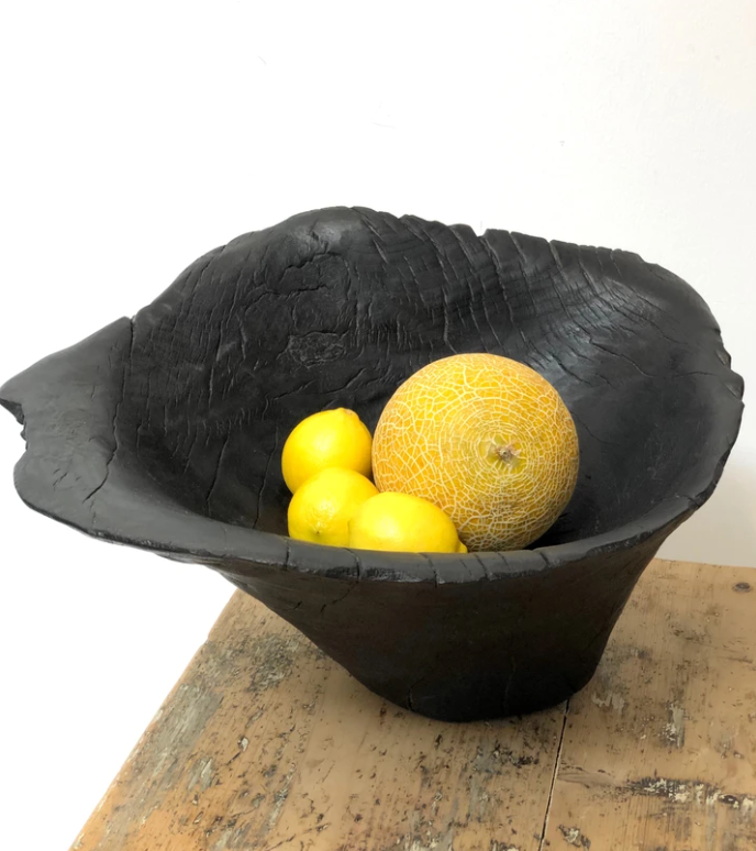 Wooden bowl - Burnt oak hand made luxurious bowl for fruit or home display