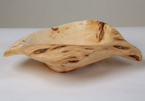 Hand made wooden bowl for fruit or display carved from reclaimed trees