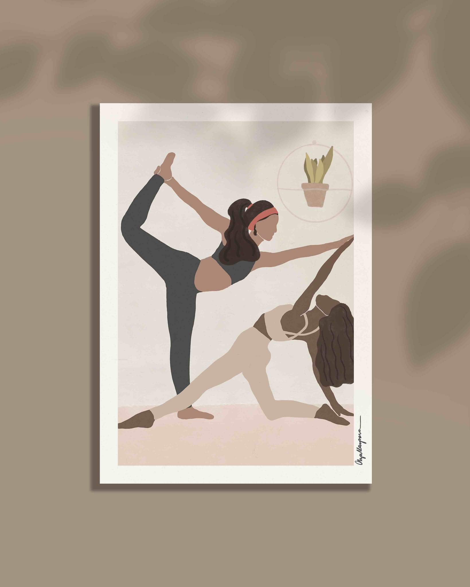 Friends who yoga together print
