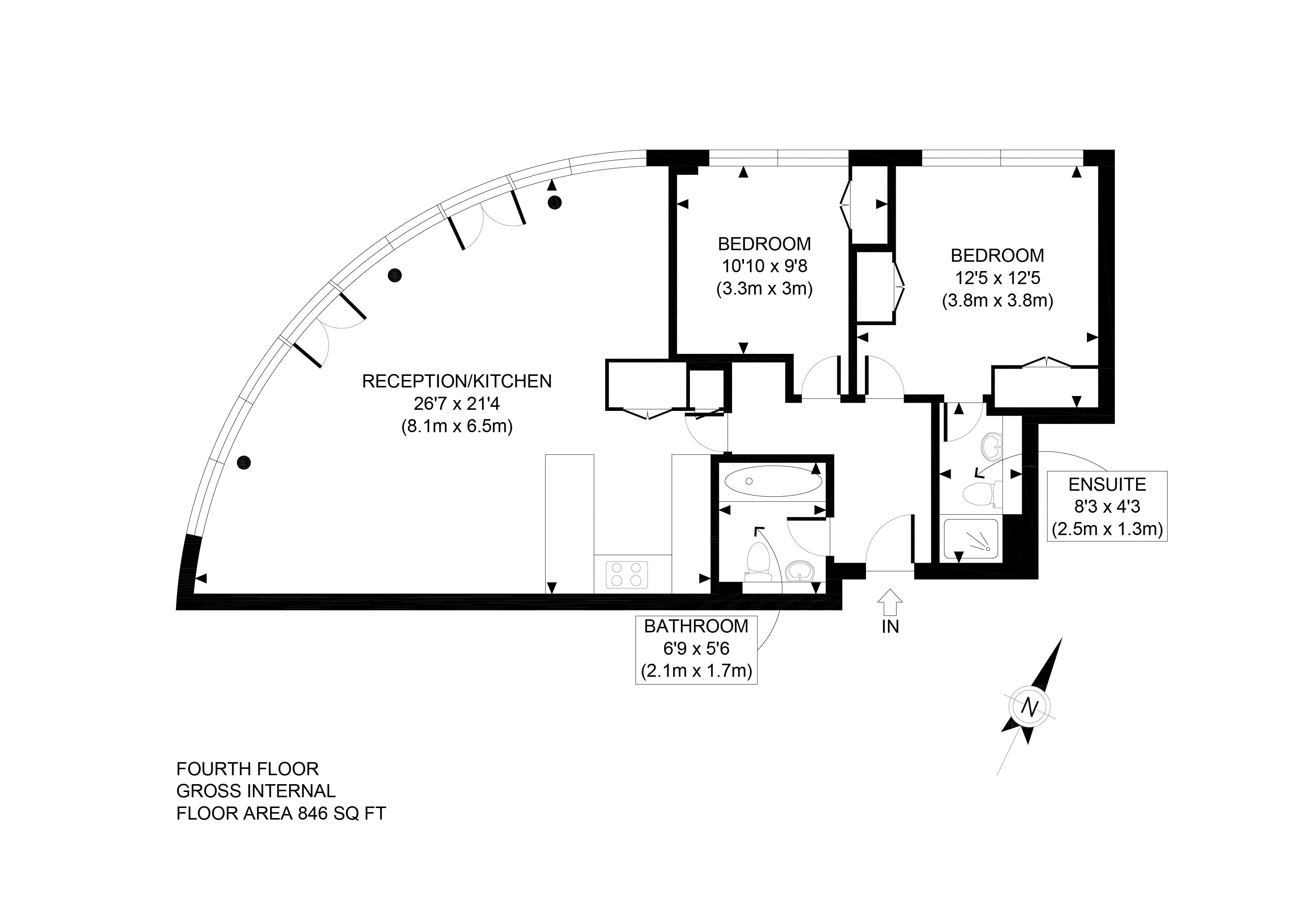 ... Professionally Produced 2D Floor Plan ...