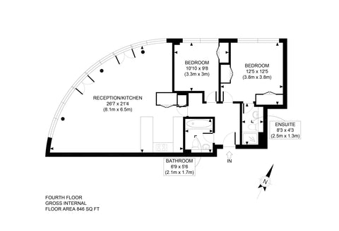 Professionally Produced 2D Floor Plan