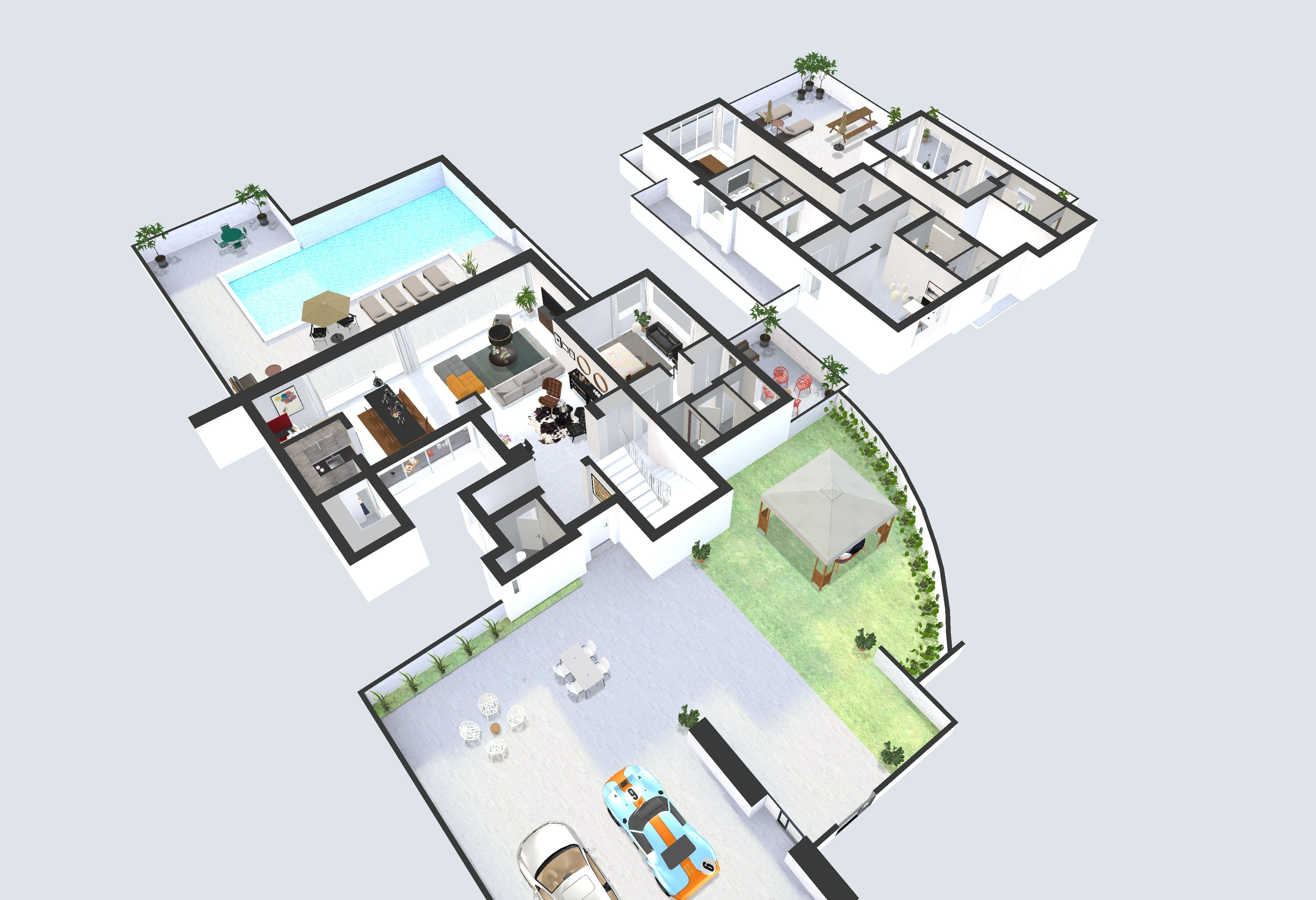 3d interactive floor plans with virtual furnishing photoplan shop. Black Bedroom Furniture Sets. Home Design Ideas