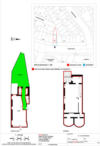 Commercial Land Registry Lease Plan or 2D Scaled Floor Plan