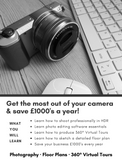 The Photoplan360 Academy (Southend-on-Sea) - Three Day Course - Photography - Floor Plans - 360° Virtual Tours