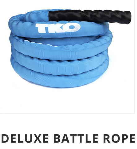 "Battle Rope 1.5""-30 feet long, with Blue Nylon Cover."