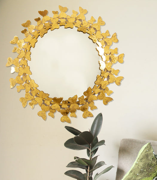 Butterfly Halo Mirror